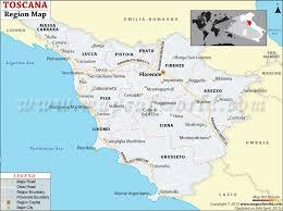 Tuscany Map Of Toscana Region