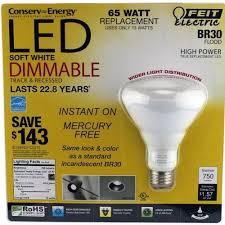 feit electric 65 watt led light bulb dimmable br30 flood lights