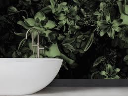blumen tapete fürs badezimmer kollektion pattern by