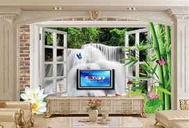 große wandbilder kreative stereoskopische windows außen wasserfall 3d wallpaper wohnzimmer sofa tv wand schlafzimmer moderne tapete