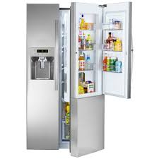 Counter Depth Refrigerator Dimensions Sears by Kenmore 51833 26 1 Cu Ft Side By Side Refrigerator W Grab N Go