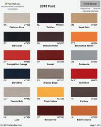 100 Ford Truck Colors Paint Color Chart Ford Paint Codes Autos Post