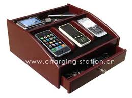 recharge valet wood charging station wood charger valet desktop