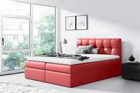 boxspringbett schlafzimmerbett 200x200cm kunstleder rot