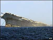 Uss America Sinking Location by 21st Century Knowledge Mighty O Sunk