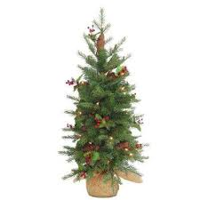 Nordic Spruce Artificial Christmas Tree With Battery Operated Warm White LED Lights