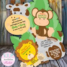 Jungle Baby Shower Invitation Giraffe Shower Invitations