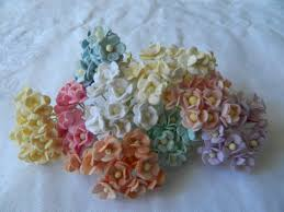 Mini Sweetheart Blossoms Mixed Colour Paper Flowers 10mm 100pk