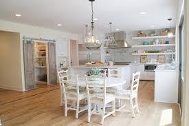 pottery barn kitchen decor barn wood dining table gloss hardwood