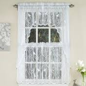 White Eyelet Kitchen Curtains by Kitchen Curtains Tiers Swags Valances Lace Kitchen Curtains