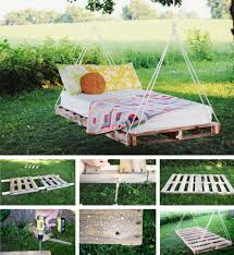Pallet Swing Bed DIY Easy Video Instructions Lots Ideas