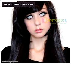 Prescription Colored Contacts Halloween Uk by White Screen Round Mesh Halloween Lens Color Contact Lens Circle