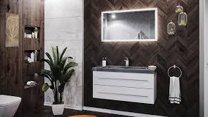 emotion waschtisch badmöbel granit g654 damo 100 cm 1 hahnloch weiß hochglanz led spiegel 100 cm kaufen otto