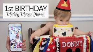 1st Birthday Party   Mickey Mouse Theme Minnie Mouse Room Diy Decor Hlights Along The Way Amazoncom Disneys Mickey First Birthday Highchair High Chair Banner Modern Decoration How To Make A With Free Img_3670 Harlans First Birthday In 2019 Mouse Inspired Party Supplies Sweet Pea Parties Table Balloon Arch Beautiful Decor Piece For Parties Decorating Kit Baby 1st Disney