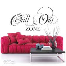 wandtattoo chillout zone wandaufkleber wohnzimmer