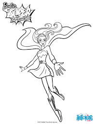 Barbie Super Princess Free Coloring Page From The Movie In Power Can Be Colored Online With Interactive Machine Or Printed To