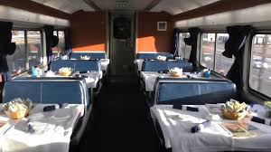 Amtrak Viewliner Bedroom by Amtrak Superliner Dining Car On California Zephyr Youtube