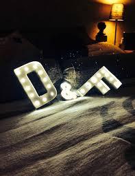 Appoi Alphabet Letter Lights LED Light Up White Plastic Letters