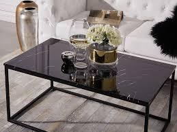 coffee table marble effect black delano couchtisch schwarz
