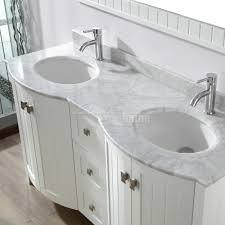 studio bathe bridgeport 60 inch white double bathroom vanity