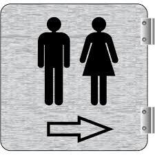 signalétique de corridor toilette homme et femme