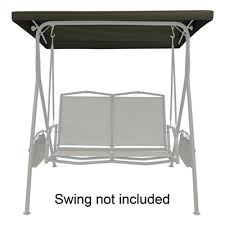 Lowes Canada Patio Furniture by Garden Treasures Replacement Brown Canopy For 2 Seat Porch Swing