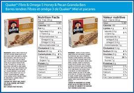 Quaker Granola Bars Nutrition