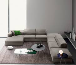 100 Modren Sofas Italian Modern Sectional Fabric Sofa With Adjustable Back Four Large Pieces
