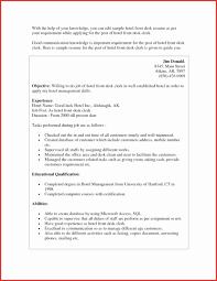 Resume Examples Hospitality Best Of Hotel Front Desk Example Privacy Policy Cover