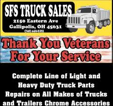 100 All Line Truck Sales Thank You Veterans For Your Service SFS Gallipolis OH