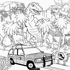 Shining Design T Rex Coloring Pages Jurassic World Indominus Page