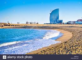 100 W Hotel In Barcelona Spain Barceloneta Beach And At The Horizon Catalonia
