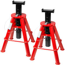 100 Truck Jack Stands 1 PAIR HEAVY DUTY JACK TRUCK SEMI STANDS HIGH LIFT 10 TON PIN 31