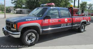1998 Chevrolet Cheyenne 3500 Crew Cab Pumper Fire Truck | It...