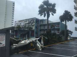 Wind from Irma blows roofing off of Garden City Inn