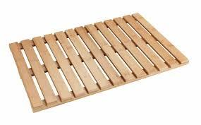 bambusmatte aus holz badezimmer plattform wenko