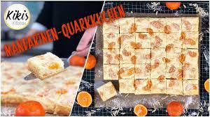 mandarinen quarkkuchen vom blech quarkschnitten mit mandarinen blechkuchen
