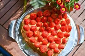 erdbeer vanille kuchen simply vegan