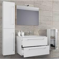5 tlg waschplatz badmöbel badezimmer set waschtisch waschbecken schubladen keramik badinos spiegel weiß vcm