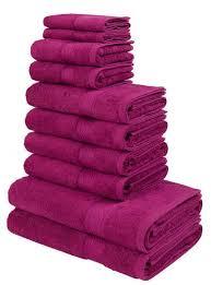 my home handtuch set moni set 10 tlg in premium qualität