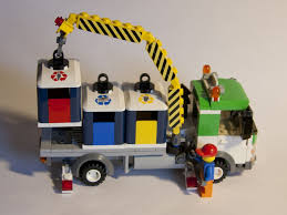 100 Lego Recycling Truck Mod 1 Lift 1 The Cranes Just Long Enough