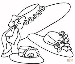 Easter Hats Coloring Page