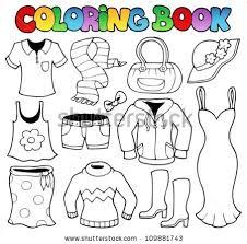 Coloring Book Clothes Theme 1