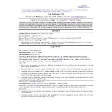 CPA Sample Resume Accountant Exles Simple Format