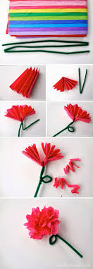 Easy Tissue Paper Flowers Craft By Photo LCykM5Xa