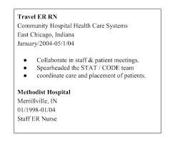 Nurses Resume Examples How To Write The Perfect Travel Nursing Get Job You