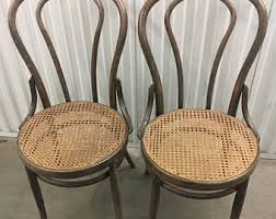 Thonet Bentwood Chair Cane Seat bentwood chair etsy