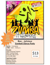 Date Halloween 2014 by Zumba Halloween Dance Party Saturday Nov 1st Atlas Personal