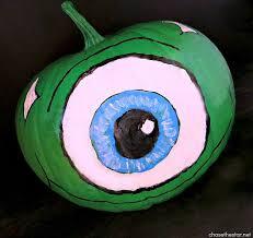 Mike Wazowski Jack O Lantern Pattern by Monsters University Painted Pumpkin