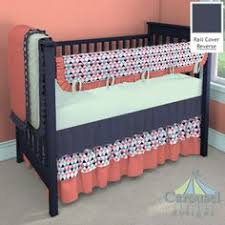 Coral And Mint Baby Bedding by Crib Bedding Navy Mint Coral Baby Bedding By Gigglesixbaby